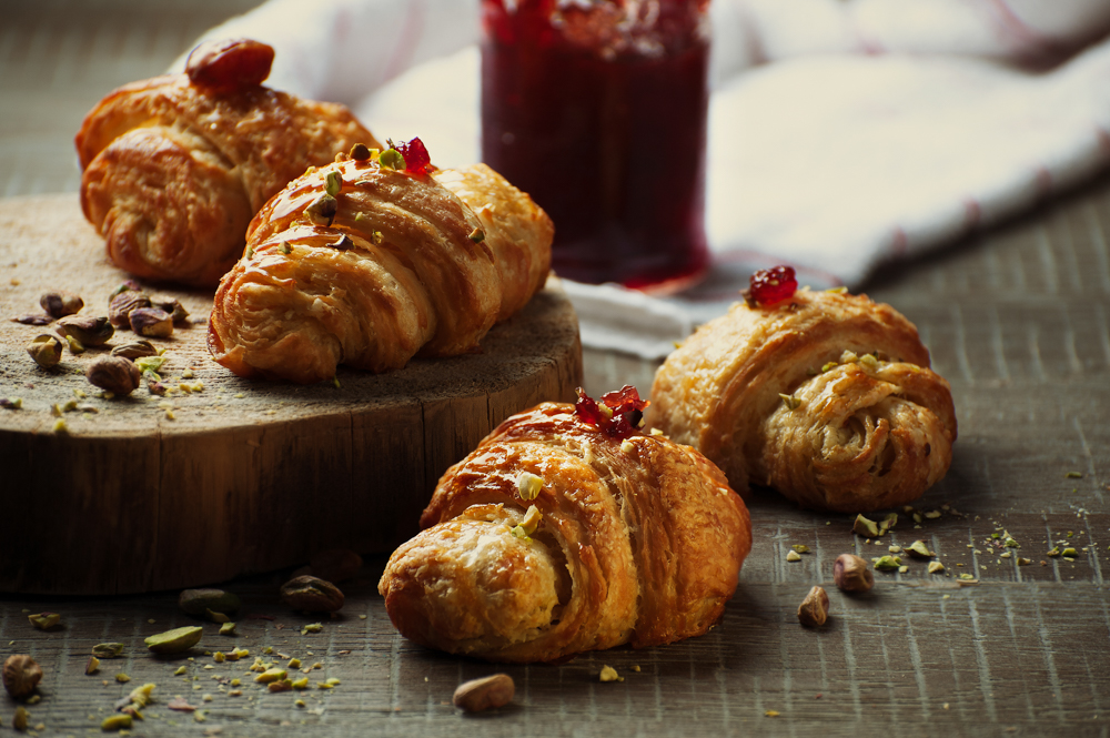 croissant bakery photography